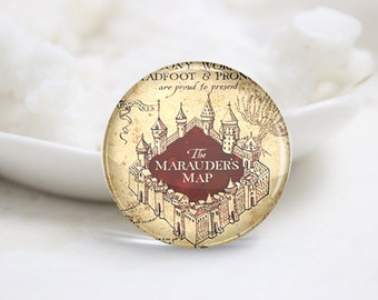 10mm 12mm 14mm 16mm 18mm 20mm 25mm 30mm The Marauder's Map-Handmade Round Photo glass Cabochons (P2812)