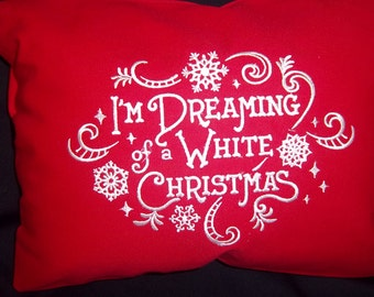Dreaming of A White Christmas Pillow