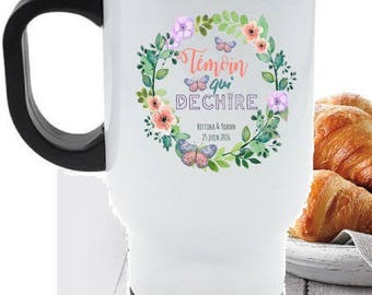 "PERSONALIZED travel MUG ""witness that tears"""