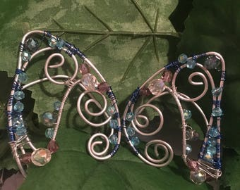 Swarovski crystals and aluminum Elf ears