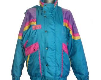 Vintage Ski Jacket Turquoise