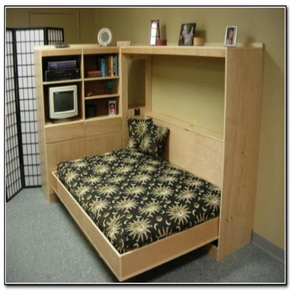 build your own queen sized horizontal murphy bed diy plan. Black Bedroom Furniture Sets. Home Design Ideas