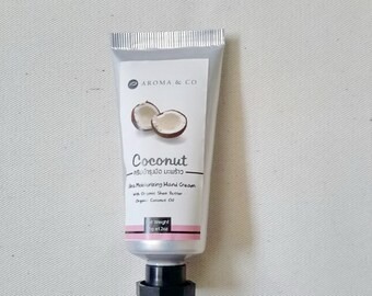All Natural Homemade Hand Cream, Hand Moisturiser for Dry Skin, Rich Coconut Hand Cream in Small Tube 35 g