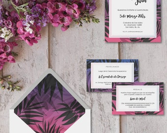 Printable invitations for marriages-model ALESSANDRIA