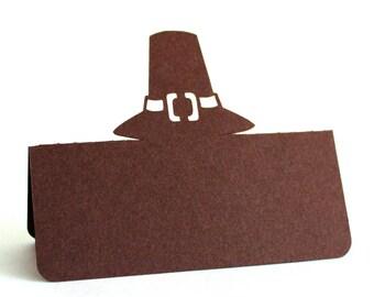 Pilgrim Hat Place Cards, Thanksgiving, Thanksgiving place cards, Thanksgiving dinner