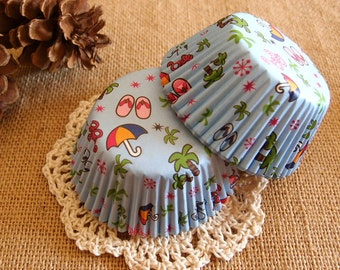 Beach Party Cupcake Liners (50)一