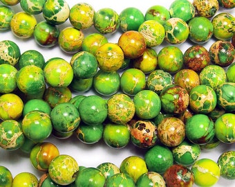 Light Green Imperial Jasper Round Gemstone Beads