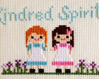 Kindred Spirits Cross Stitch: Anne of Green Gables inspired- PDF Digital Download
