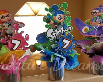 WiiU video game Splatoon Centerpieces