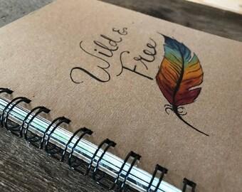 Wild & Free | Spiral Notebook | Reclaimed Paper | Journal
