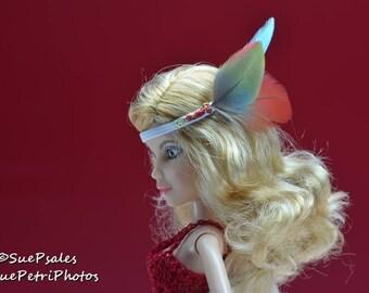 Fashion Doll Photos, Liv Doll Photography, Liv Doll, Toy Photography, Barbie Photography, Feather Headband, Blue, Red, Green, Liv
