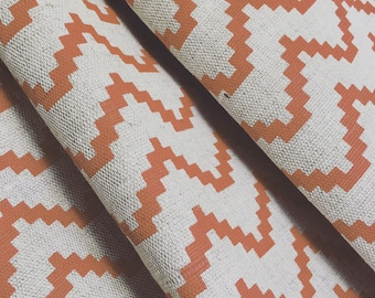 Made to Measure Curtains- Orange Curtains- Zig Zag Curtains- Scandinavian- Geometric- Made to Measure- Burnt Orange- Lined Curtains- UK