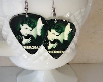 David Bowie Guitar Pick Earrings Heroes Handmade Bowie