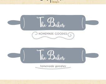Premade Logo & Watermark // Baking logo // Baker logo // Food Logo // Blog // Food logo design  // Solipandi Design Studio//#049