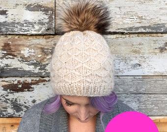 Knit Pattern Only***, You made that hat, knit hat, luxury knit hat, intermediate hat pattern, fancy hat pattern, knit hat, knit hat DIY