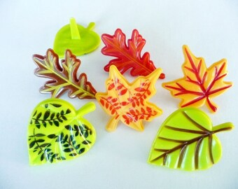 24 Fall Leaves Vertical Cupcake Picks Party Favors Cake Toppers Decorations Autumn Halloween Thanksgiving