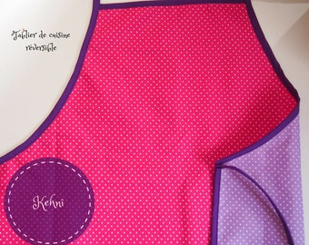 Reversible apron with polka dot