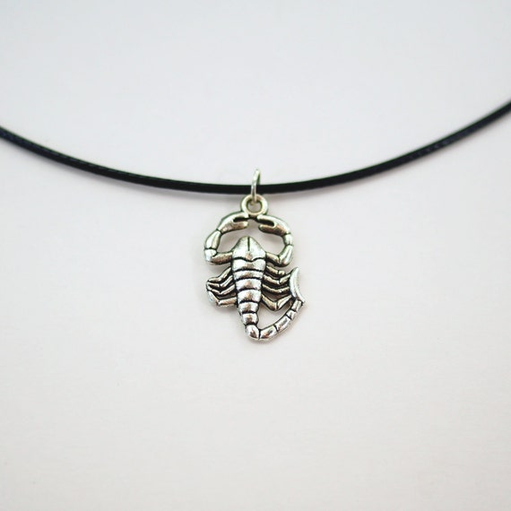 Scorpio necklace scorpio choker scorpion necklace zodiac like this item mozeypictures Images