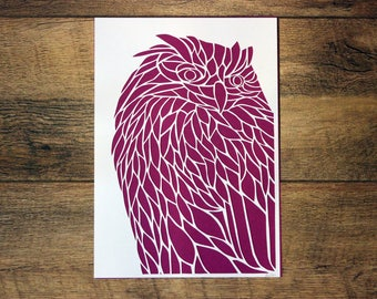 CLEARANCE - Owl Paper Cut