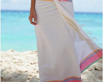 African Beach Sarong / Swim Sarong / Beach Sarong Wrap / Bathing Suit Cover Ups Sarong / Pareo Wrap / Beach Pareo Cover Up / Bikini Cover Up