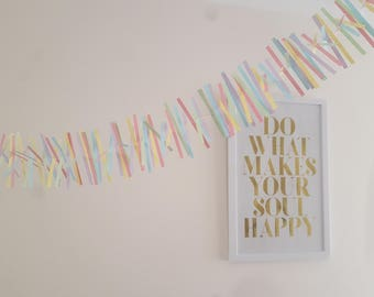 Pastel Rainbow Paper Bunting Banner