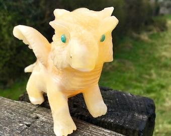 Yellow Calcite Dragon #147