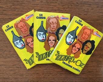 Wizard of Oz Trading Cards, MIP, 3 Packs, Vintage, Turner Ent, 1990