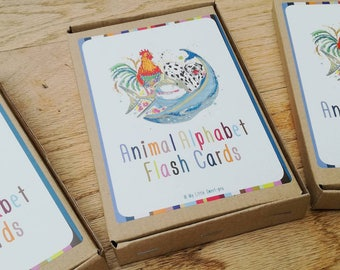 Beautifully illustrated and laminated Animal Alphabet (26) & number (10) Flashcards. Perfect for teaching your little one to read and count!