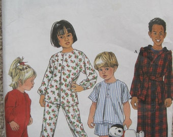 UNCUT Toddlers and Childs Sleepwear - Simplicity Sewing Pattern 8493