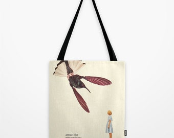 Tote Bag - Inspirational collage art - attract the extraordinary