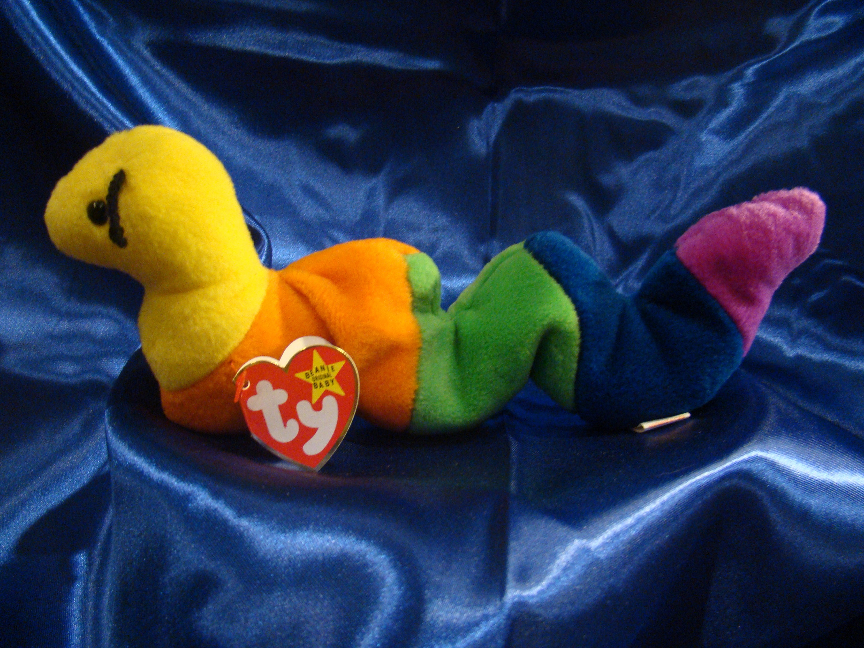 40bb4dab5d1 Ty Beanie Baby INCH The Worm MWMT Rare with
