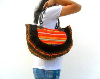 Tote bag, Bohemian Bag, Ethnic bag, Hippie tote, artisic bag, hill tribe tote, boho bag, Shoulder Bag, Purse, Messenger bag, Gift