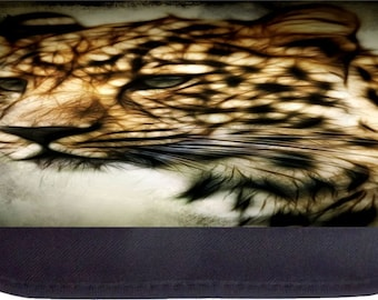 Fractal Leopard - Black Pencil Bag - Pencil Case