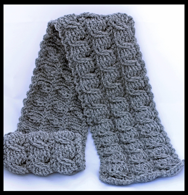 Crochet Cable Scarf Patterns - Crochet Men\'s Scarf Patterns ...