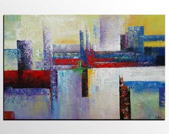 Large Art Painting, Abstract Art, Large Art, Large Painting, Canvas Art, Canvas Painting, Living Room Art Decor, Abstract Landscape Art
