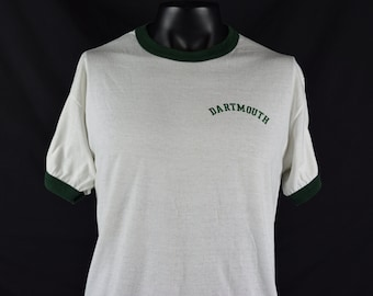 1980's Dartmouth College Ringer t-shirt / University / New Hampshire / Ivy League / School / Fits like  a Large