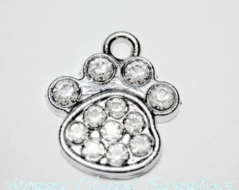 Little Paws Rhinestone Charms - Package of 2