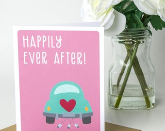 Wedding Card - Greeting Cards - Wedding congrats cards - Congratulations Cards - Happily Ever After
