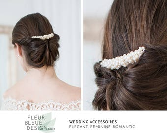 bridal hair comb | pearl hair comb | hair comb vintage | hair comb for wedding | ivory pearl wedding hair comb | hair comb wedding