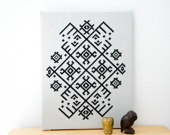 Ethno Pattern - PDF CHART Modern Cross Stitch Pattern for Download /folk tribal ethno cross stitch pattern / primitive / native cross stitch