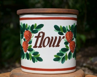 SMALL Mid-Century Bauer Flour Canister