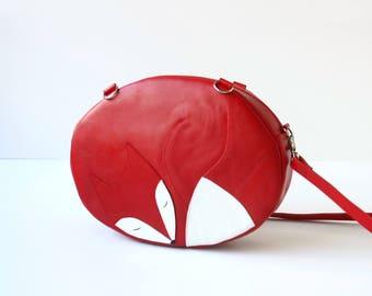 Sleeping Fox Leather Handbag