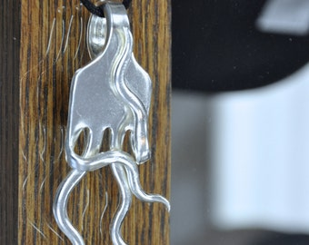 Fork Necklace Thinking Man