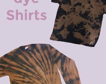 Bleach dye t-shirts