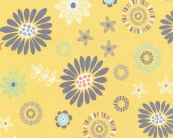 Lily Yellow - 1 Yard Cut - C 4250 - Timeless Treasures - Cotton Fabric - Yellow Fabric - Floral fabric