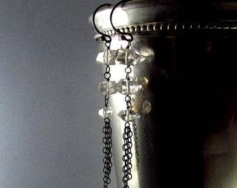 20 % Rabatt Herkimer Diamant mit oxidiertem Sterlingsilber Ohrringe