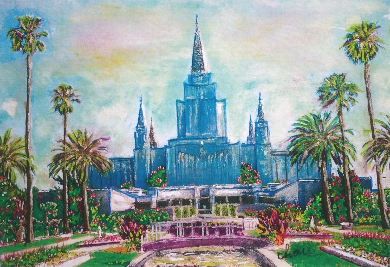 Templo de Oakland California Sud mormones arte impresión