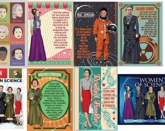Women in Science Greeting Card set
