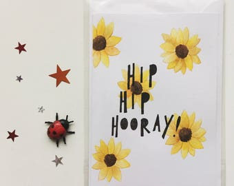 Hip Hip Hooray A6 Greetings Card