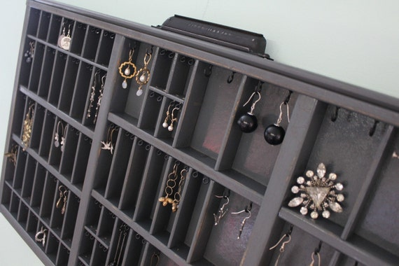 Jewelry organizer Printers Drawer by Bluebirdheaven